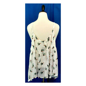 torrid Tops - Torrid Cami Top Plus 28 White Toucan Bird Babydoll